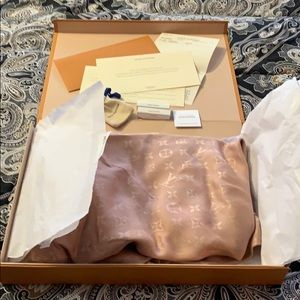 Louis Vuitton Nude Monogram Chale Scarf Shawl